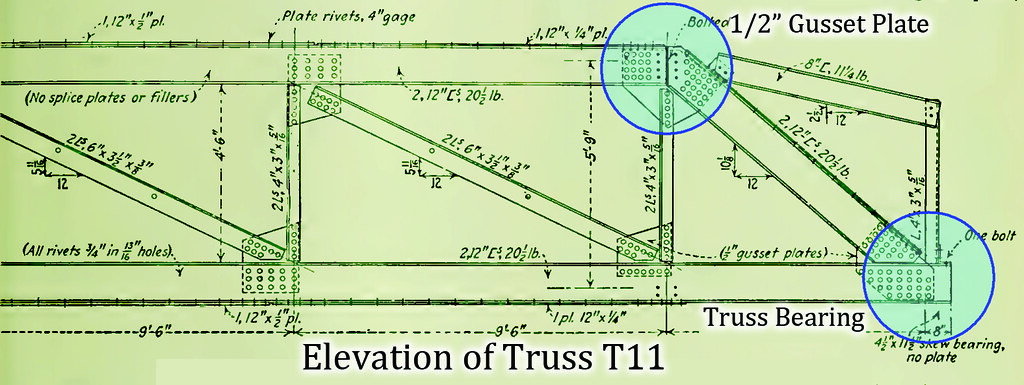 Figure 8: Elevation of Truss T11, via ENR archives
