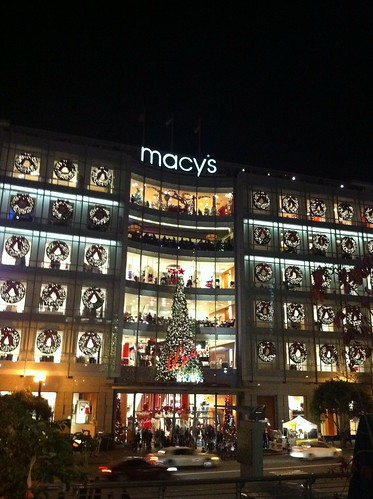 San Francisco Union Square Macy's Christmas Tree