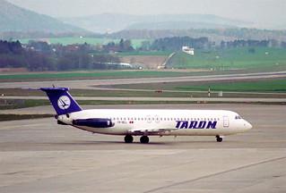 TAROM BAC 1-11 500; YR-BCL@ZRH;08.04.1995