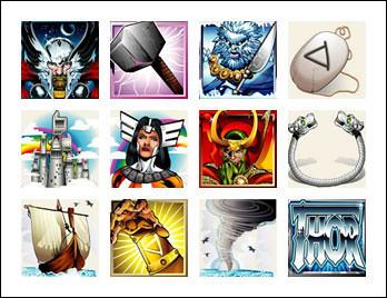 free Thor slot game symbols