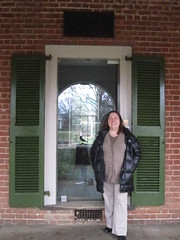 Melanie visiting Poe's dorm room at UVA