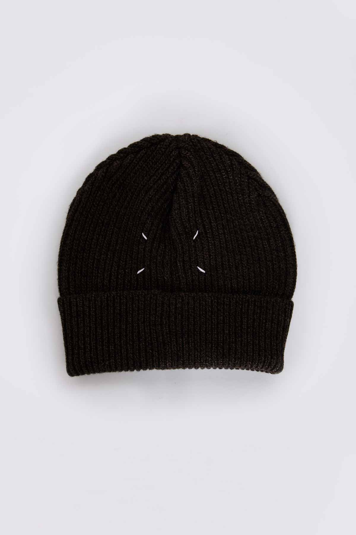 MAISON MARTIN MARGIELA 22 Wool Rib Hat Brown