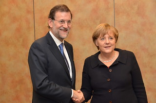 Rajoy y Angela Merkel