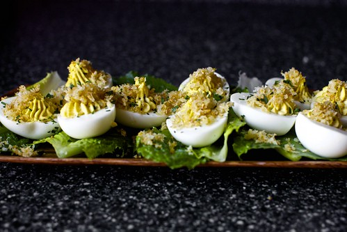 An Om Believable Experience., caesar salad deviled eggs