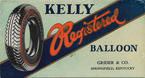 Kelly Tires Advertising Blotter - n.d. by steveartist
