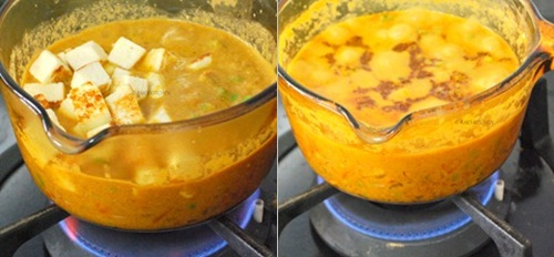how to make matar paneer step 8
