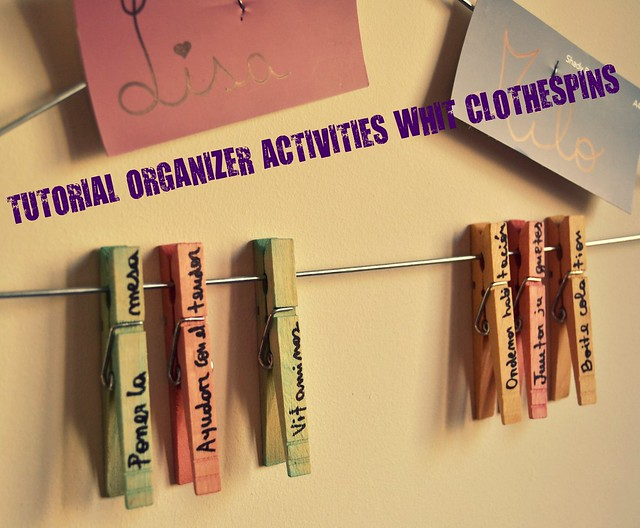 TUTORIAL ORGANIZER ACTIVITIES WHIT CLOTHESPINS