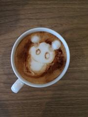 Today's latte, Simeji.