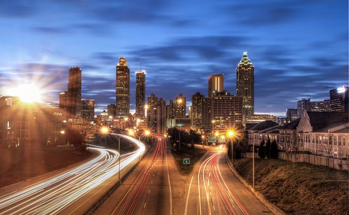 Atlanta skyline Jackson St Bridge