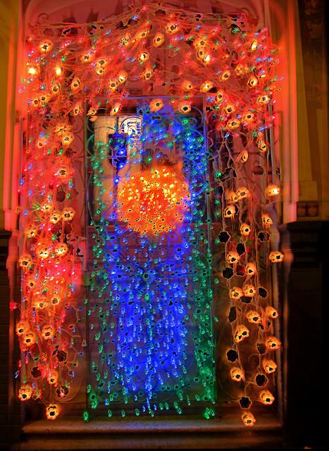 Christmas Door Lights, Hdr Overkill