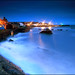 St Monans - Harbour Lights & the Blue Hut
