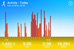 Jawbone Up Activity Log for today