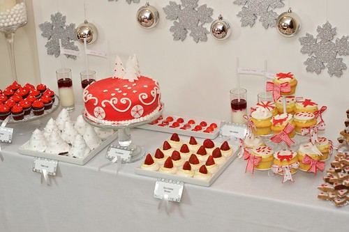 Słodki stół - biało-czerwony by CupcakeLovePL