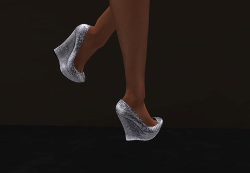 Leverocci - Knox Wedges - Icy Silver shoes (With Love Hunt) by Cherokeeh Asteria