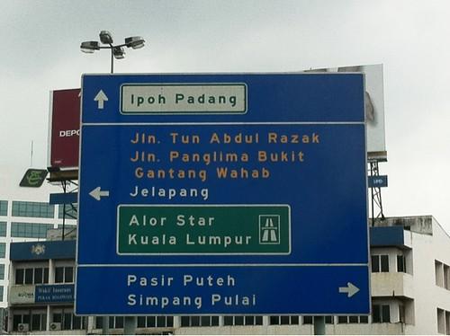 Signboard Ipoh Padang