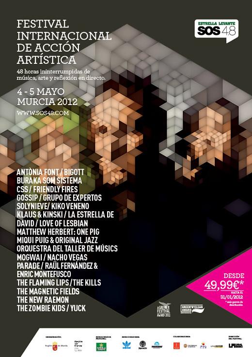 El SOS 4.8 2012 confirma 22 nuevos artistas