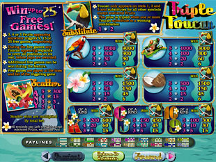 Triple Toucan Slots Payout
