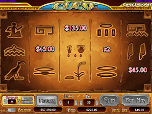 Cleo Queen of Egypt Slots Bonus Game
