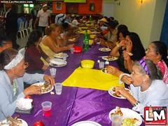 Noé Camacho, diputado del PLD por Espaillat cena con más de 300 envejecientes de Juan López, Moca