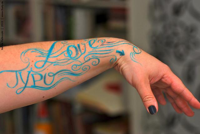 Painted acryl-tattoo :-)