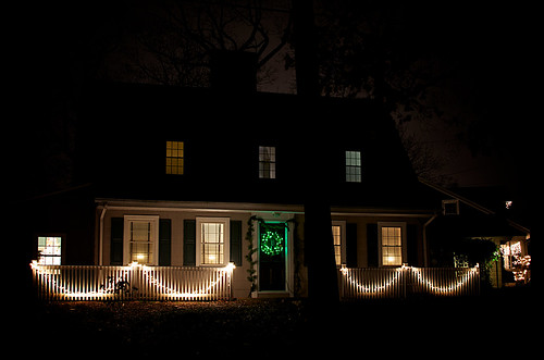Our house in lights.