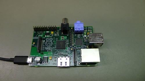 Raspberry Pi béta lap megszerelve