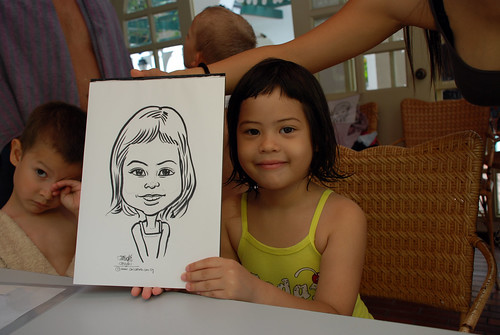 caricature live sketching for children birthday party 08 Oct 2011 - 12