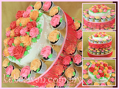 Cake & Cupcakes Tower for Farah Jida