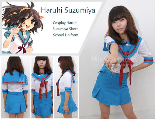 Cosplay Haruhi Suzumiya Short School Uniform