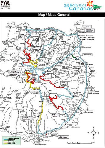 Mapa Tramos Rallye Islas Canarias 2012
