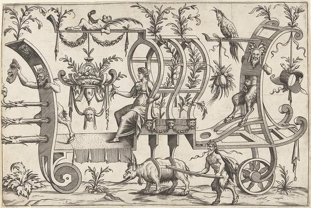 Voor op de wagen staat een sater...1550