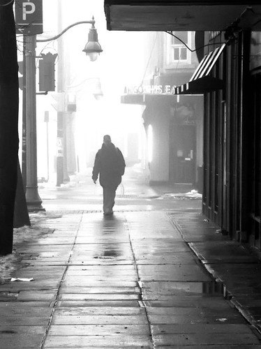 Out of the Fog - Wet Walk by Alan Norsworthy