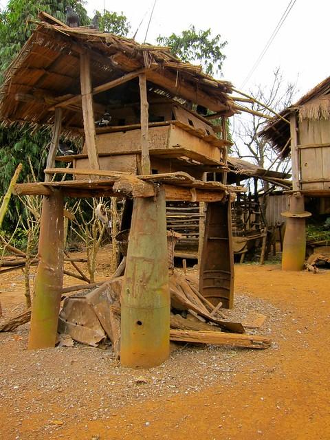 Village built using casings from US Cluster Bombs, Phonsavan, Laos