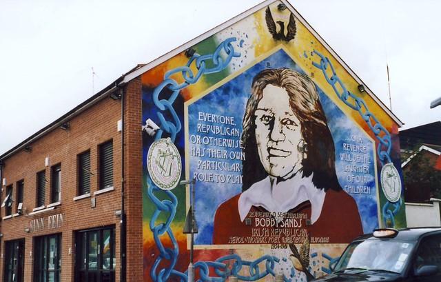 Bobby Sands mural, Falls road, Belfast