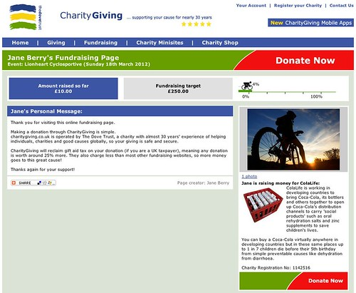 CharityGiving Fundraising Page