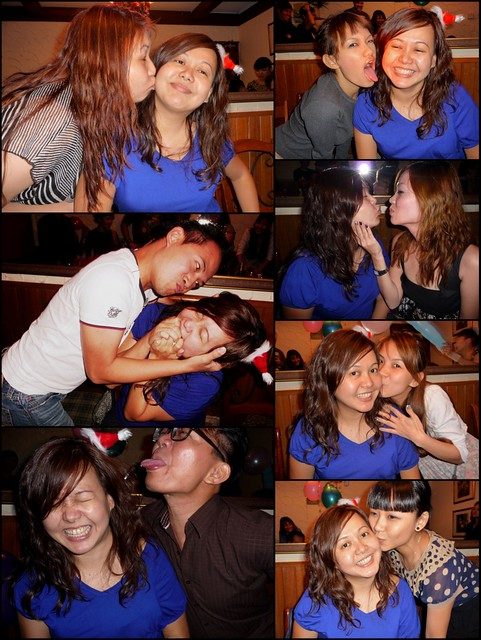 Kerol's surprise party @ TJ Haus - kissing 2