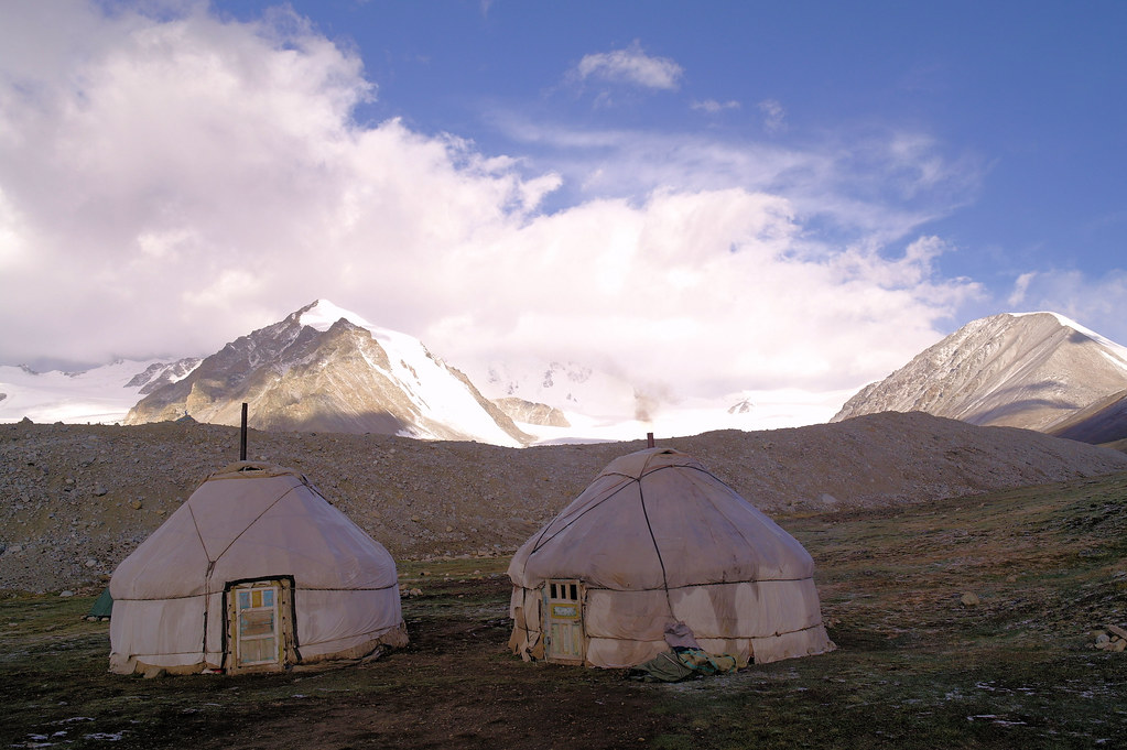 Base camp by Potaniin glacier, Tavan Bogd national park