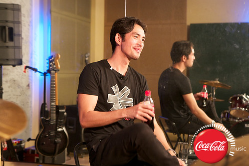 Rico Blanco and Amber Davis at Coke Music Studio - 1
