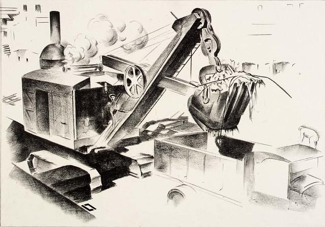 Louis Lozowick, Steam Shovel (1930)