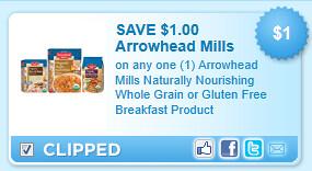 Arrowhead Mills Naturally Nourishing Whole Grain Or Gluten Free Breakfast Product Coupon