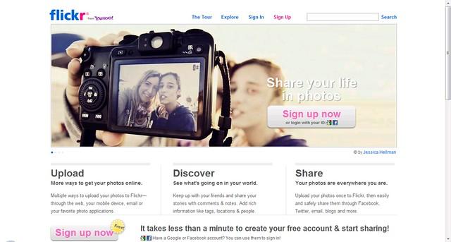Flickr.com landing page