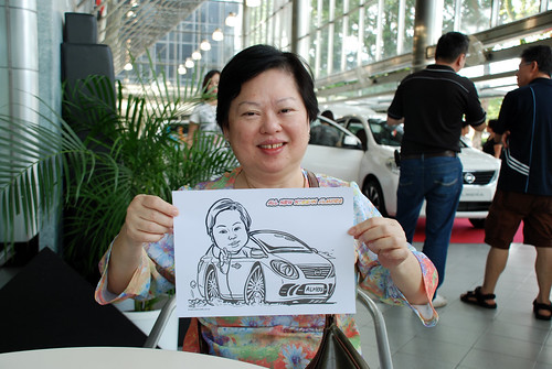 Caricature live sketching for Tan Chong Nissan Almera Soft Launch - Day 2 - 28