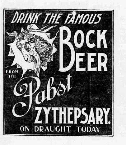 1897 April  Famous Bock Beer from the Papst Zythepsary by carlylehold