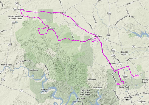 1-7-2012 Ride Route
