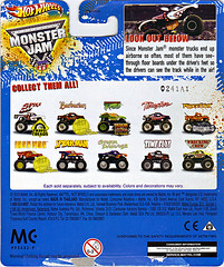 """ Hot Wheels "" Monster Jam ' Teenage Mutant Ninja Turtles ' 1:64 Monster Truck - Michelangelo {  MUD TRUCKS tire treads } 53/80 ..card backer ii (( 2011 ))"