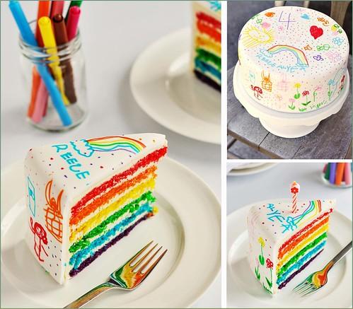 scribble cake