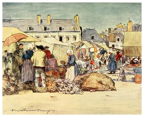 017-Un puesto de zuecos en Paimpol-Brittany 1912- Mortimer y Dorothy Mempes