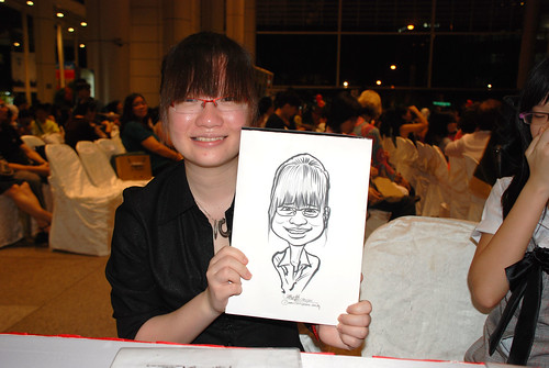 caricature live sketching for kidsREAD Volunteer Appreciation Day 2011 - 14