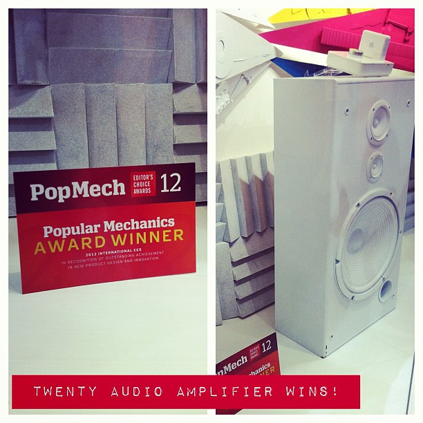 Twenty Audio Amplifier for Airport Express wins Popular Mechanics Editor's Choice Award at CES