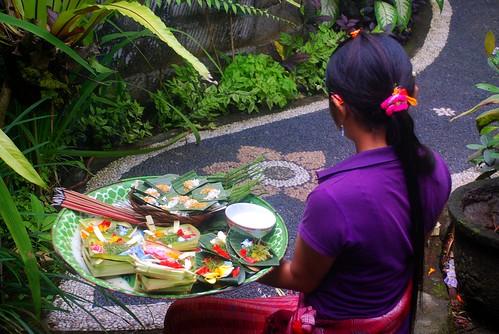 Bali Flower Ritual